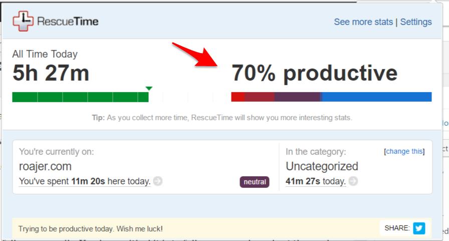 rescuetime productivity app